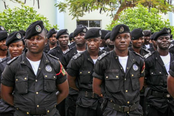 Angola police ready for duty