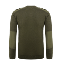 V-neck army olive green sweater for police (2)