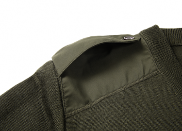 V-neck army olive green sweater for police (7)