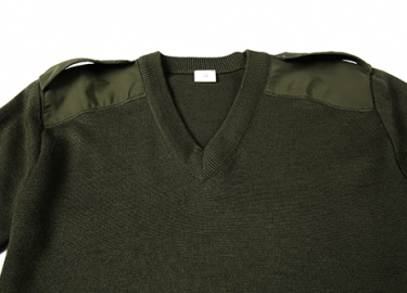 V-neck army olive green sweater for police (8)