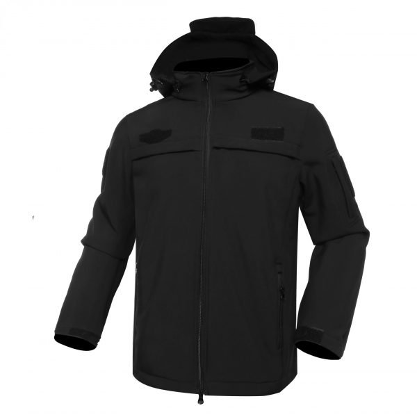 Black military fleece jacket for outdoors MJ06 (2)