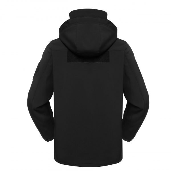 Black military fleece jacket for outdoors MJ06 (3)