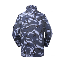 Navy Blue Camouflage Camouflage military winter fleece jacket for soldier MJ05 (1)