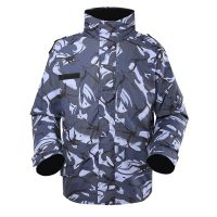Navy Blue Camouflage Camouflage military winter fleece jacket for soldier MJ05 (2