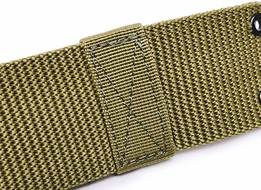 khaki military belt with buckle (3)