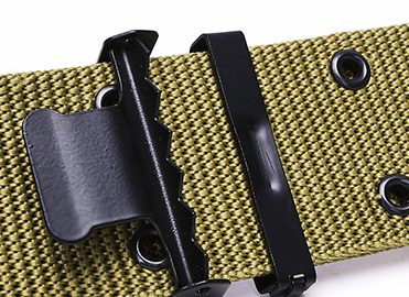 khaki military belt with buckle (5)
