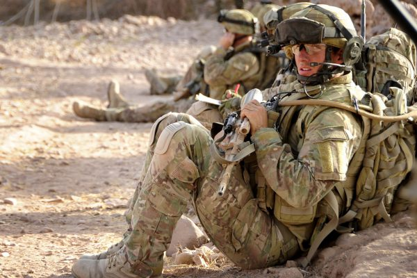 Australian solider wearing MultiCam ACU when they are on duty