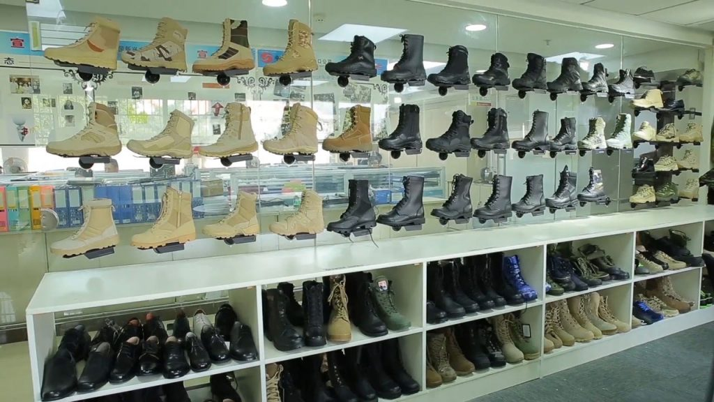 military footwear showroom-China xinxing guangzhou import and export co., ltd.