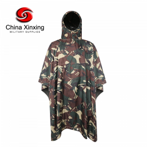 Military Camouflage Poncho 190T Polyester Camouflage Poncho With PVC Coating PO07