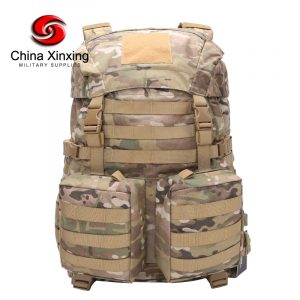 Military Backpack XINXING TL01 Multicam Camouflage Custom 600D Polyester Heavy Duty Rain-Cover Multifunctional Army Tactical Hiking Backpack